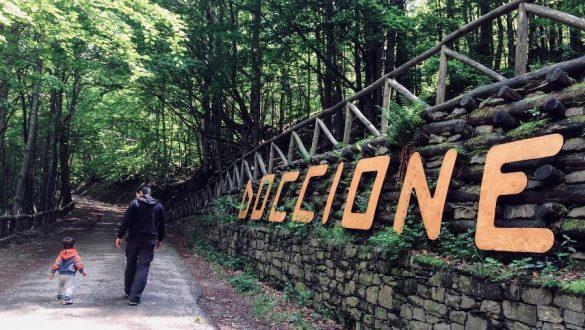 La Cascata del Doccione e l'accesso