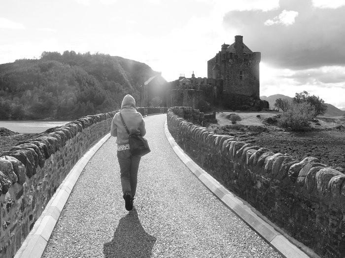 solitudine all'Eilean Donan Castle
