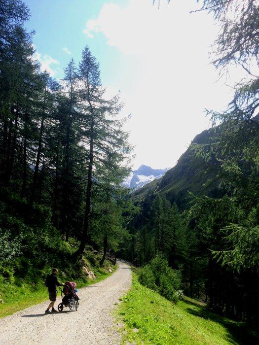 Escursioni in montagna con bambini in passeggino