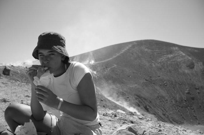 sul cratere all'isola Vulcano