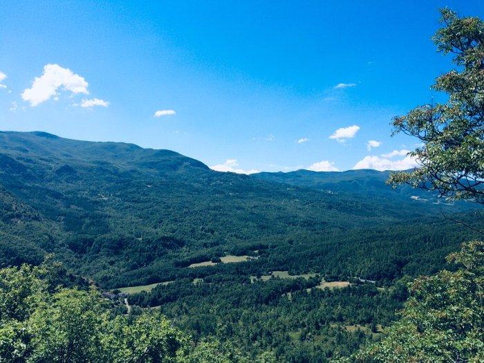 Il panorama sulla Valle del Dragone dal Monte Calvario