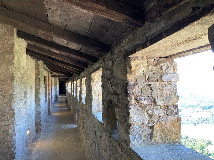 I camminamenti del castello di Bardi