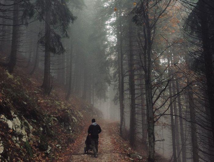 Sentiero per il rifugio Nino Pernici con passeggino