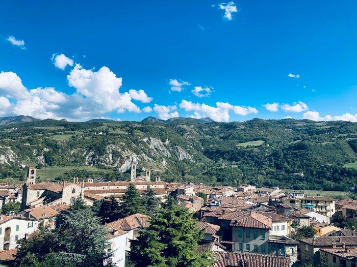 Panorama sul borgo medievale di Bobbio