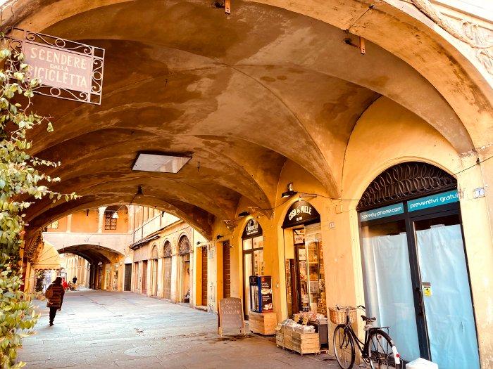 Scorci del centro storico di Reggio Emilia