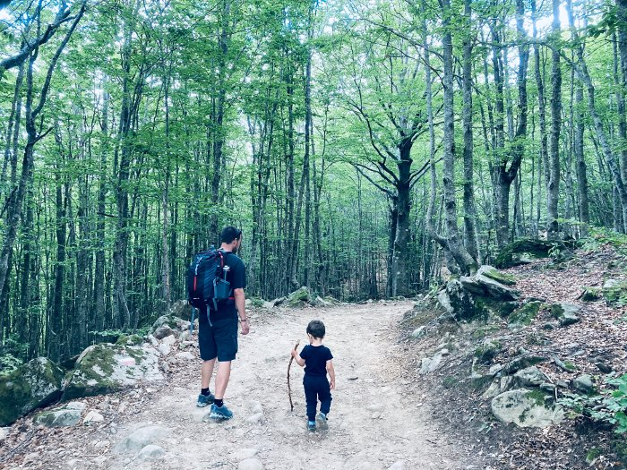 Il sentiero per il Lago Baccio