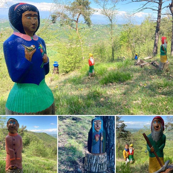Le statue in legno del Bosc dla Fola