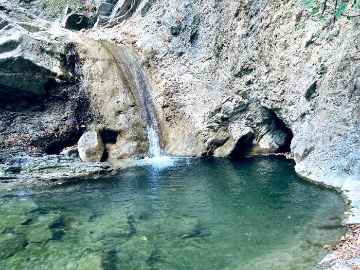 Dettagli della Cascata bassa del Carlone