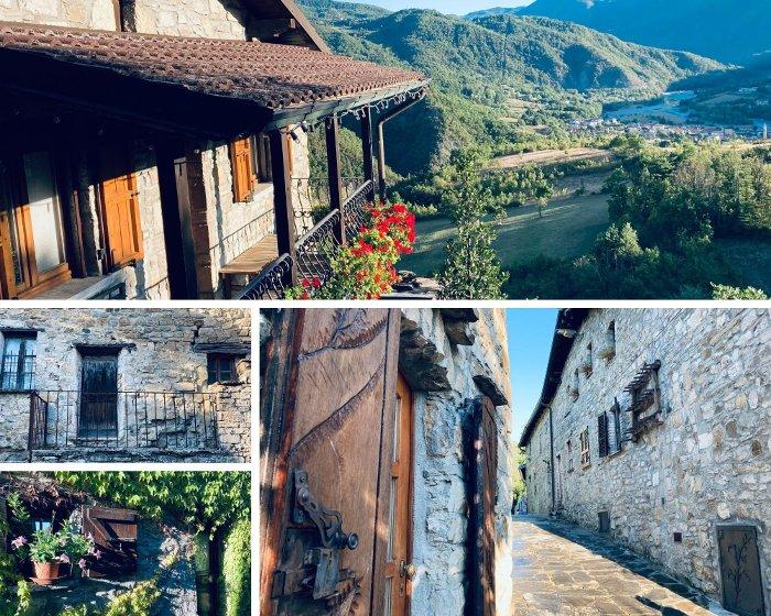 Il borgo di Brugnello in Val Trebbia